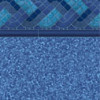 Blue Raleigh Tile - Pebble Blue Bottom