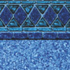 Blue Lancashire Tile - Pebble on Blue Bottom