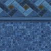 Blue Mountain Top Tile - Blue Mosaic Bottom